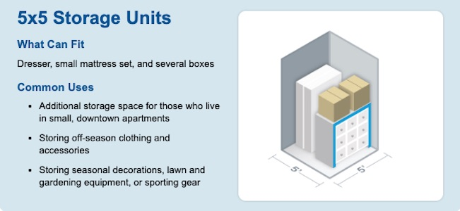 5x5 Self Storage Unit